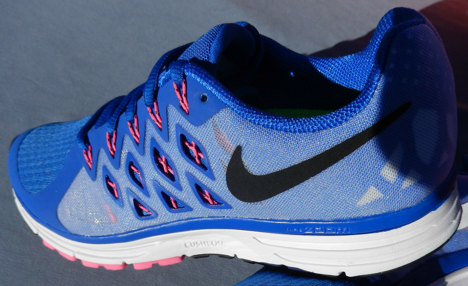 NIKE WOMENS ZOOM VOMERO 9 SIZE 6.5  BLUE 642196-400 RUNNING TRAINER Blue