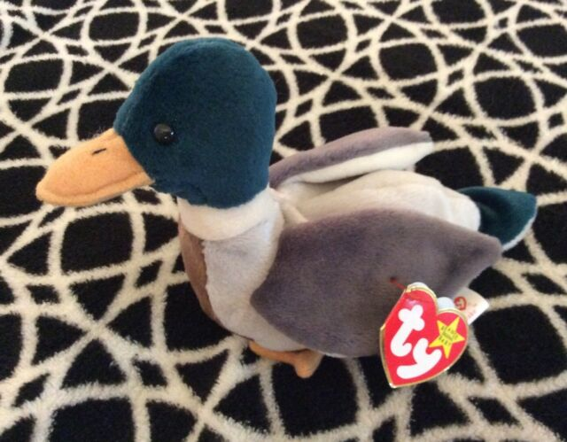 NWT Ty Beanie Baby Jake The Mallard Duck VINTAGE 1997/8 With Tush Tag & Hang Tag