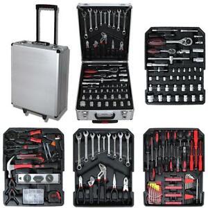 Caja de Herramientas, 251 herramientas con caja de aluminio y mango telescópico