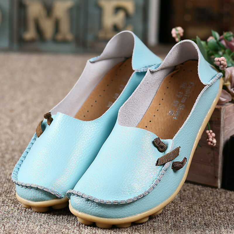 Women's  Moccasin Single Shoes Casual Driving Moccasin  Peas Flats Loafers Slip On Soft @ 6471a6