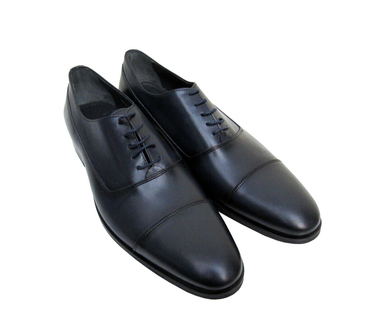 Herren leder Schuhe Business Business Business Freizeit Gr.39 Dunkelblau  1b5960