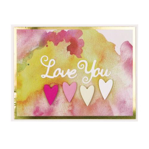 2 Templates Spellbinders D-Lites Die ~ Love You ~ S1-024 NEW