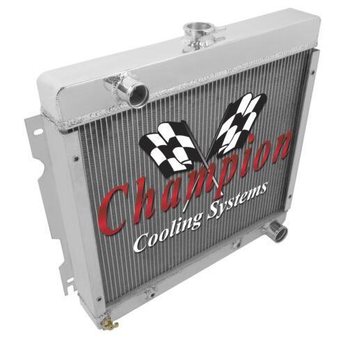 1971-1972 Plymouth Duster Small Block V8 Aluminum 3 Row Champion Radiator