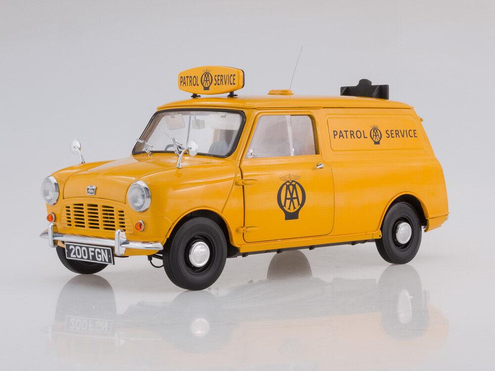 Modèle à l'échelle 1 12 1963 Austin Mini AA Patrol Service Van jaune