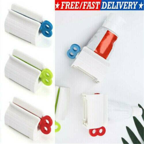 Toothpaste Squeezer Rolling Tube Squeeze Dispenser Toothpaste Seat Holder Stand~