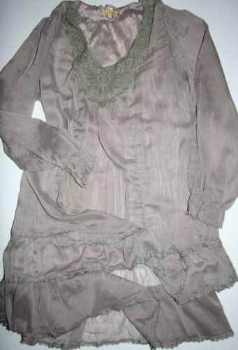 foncé Robe longues 44 Nostalgie L Taille manches XL Nouveau tunique Dec Taupe à Robe 40 0w0qTOEf
