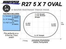 LIONEL AMERICAN FLYER FASTRACK S GAUGE R27 OVAL TRACK PACK Layout design NEW