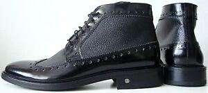 JOOP-Herren-Boots-Stiefelette-Bootie-Chukka-Schuhe-Echtleder-Schwarz-Gr-42-NEU