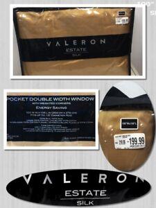 "VALERON ESTATE SILK 1 ROD POCKET 100/"" X 108/""  DOUBLE WIDTH WINDOW PANEL 396038"