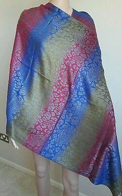 100% Pashmina/cashmere Morbido Scialle Wrap (multicolore)-ere Soft Shawl Wrap (multi-coloured) It-it Con Metodi Tradizionali