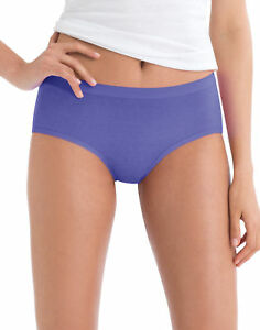 Hanes-No-Ride-Up-Low-Rise-Cotton-Brief-Panties-6-Pack-Underwear-Women-039-s-Tag-free