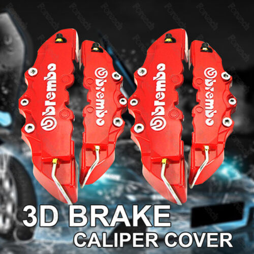 (2M+2S)4 pcs 3D Brembo Style Front Rear Universal Disc Car Brake Caliper Covers