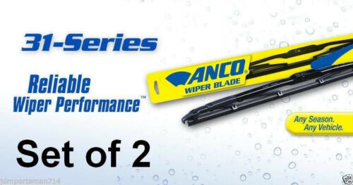 """ANCO 31-Series Fitment Wiper Blade Set of 2 Front 21/"""" /& 20/"""""""