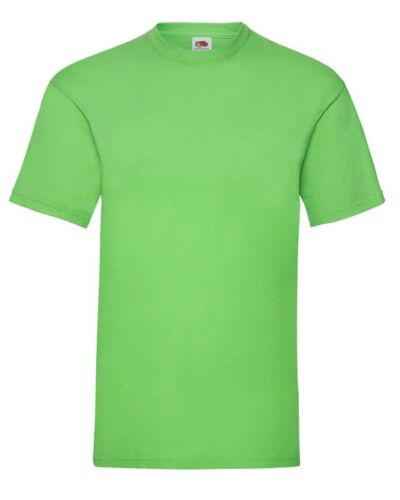 1 3 5 10 Pack Fruit Of The Loom Men Valuewigh 100/% Cotton Plain Tee T-Shirt lot
