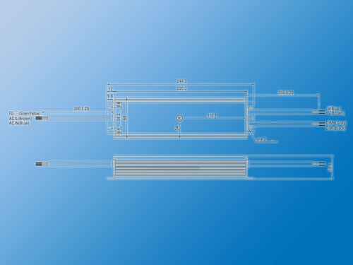 Mean Well LED quadro Alimentatore 12vdc16a192whlg-240h-12bip67Dimmerabile