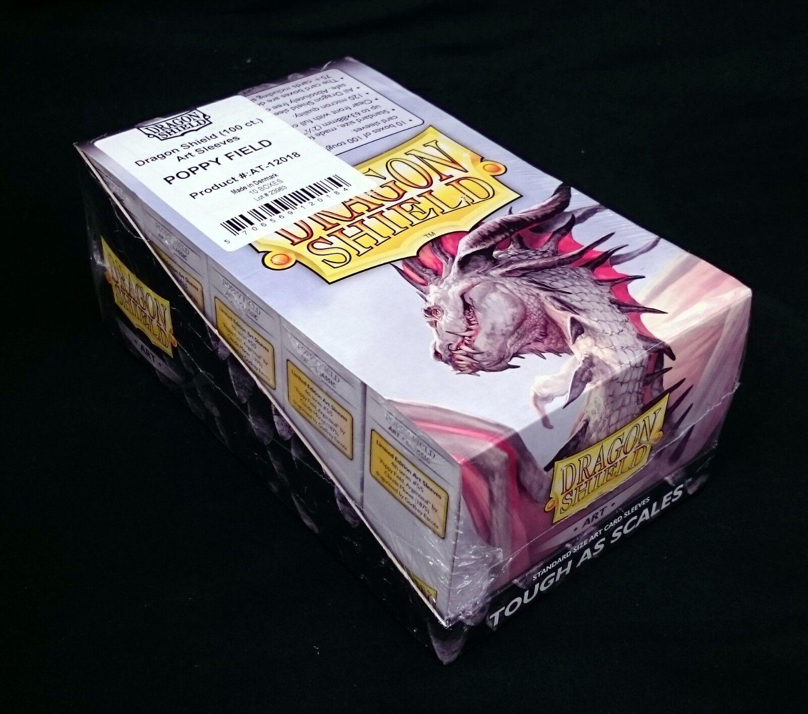10x drake Shield Classic konst ståard -Storlek Slieves Poppy Field låda BRAND NY