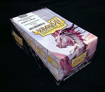 "1x Dragon Shield Classic Art Standard-Size Sleeves /""Poppy Field/"" 100ct BRAND NEW"