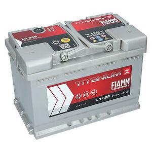 autobatterie 12v 80ah 730a en fiamm pro premium batterie. Black Bedroom Furniture Sets. Home Design Ideas