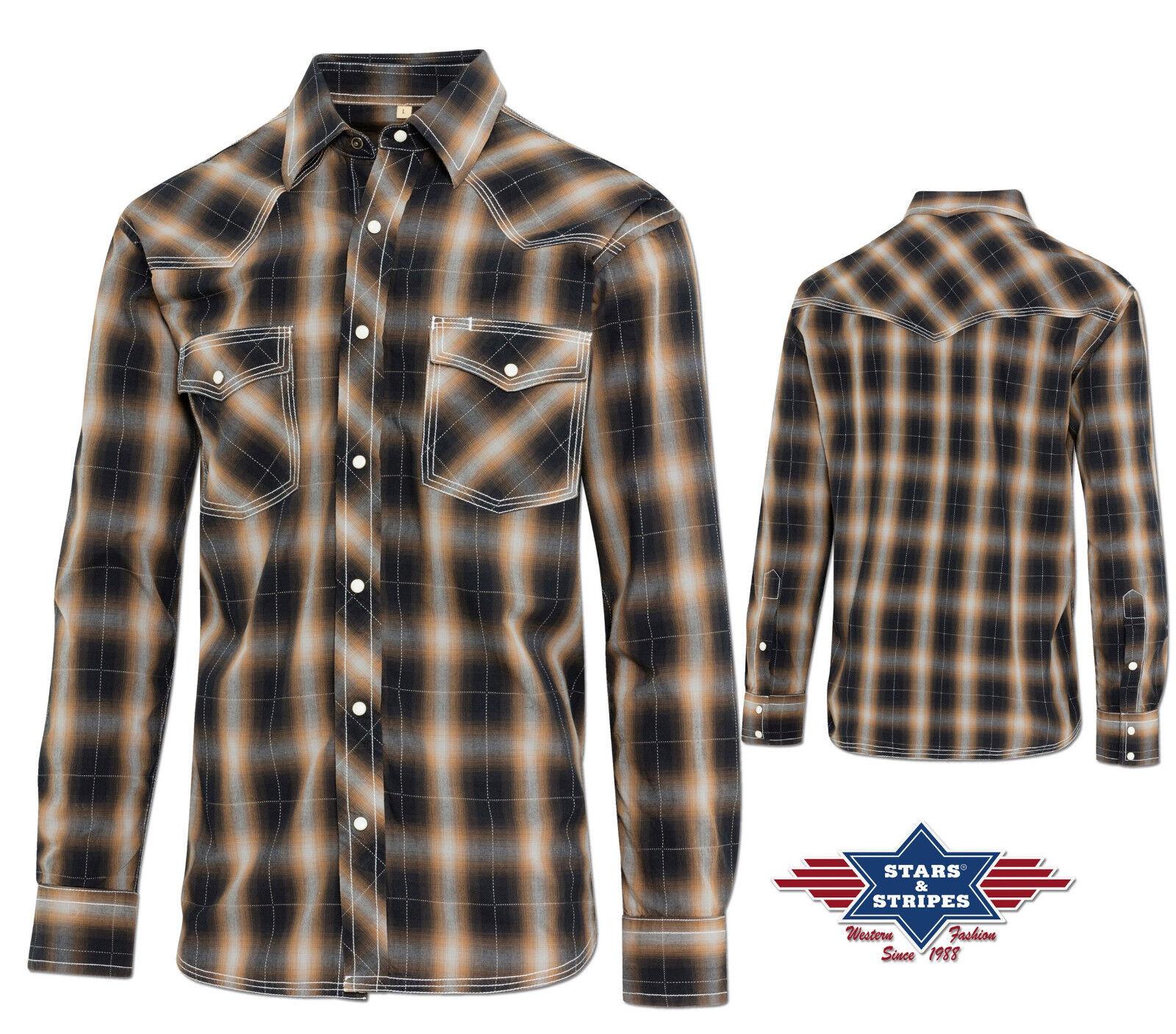 Westernhemd Cowboy Western Hemd  Tanner  Gr. S-3XL
