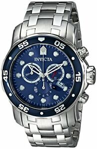 Invicta-Men-039-s-Pro-Diver-Chronograph-200m-Silver-Tone-Stainless-Steel-Watch-0070