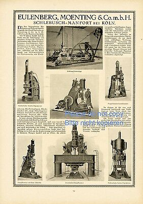 Painstaking Engineering Works Eulenberg & Moenting Germany Xl German Ad 1918 Schlebusch Advertising Excellent Quality Collectibles