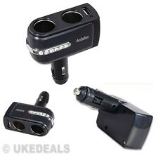 CAR CIGARETTE LIGHTER SOCKET SPLITTER CHARGER POWER ADAPTOR 1 USB 2 DOUBLE WAY