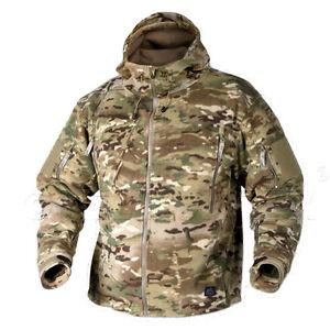 Helikon Alpha Tactical Mens Jacket Grid Fleece Army Combat Hunting Camogrom Camo