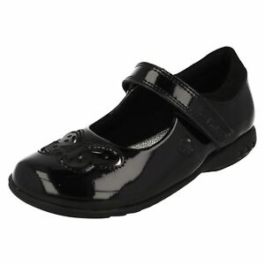 Trixi Rosa Negro G Clarks Zapatos Niña Luces Charol Ajuste r7a Con fqadH5xH