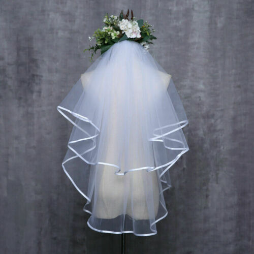 Blanc Ivoire Mariage Veil Bride to be Hen Night Stag Party Fancy Dress Costume UK