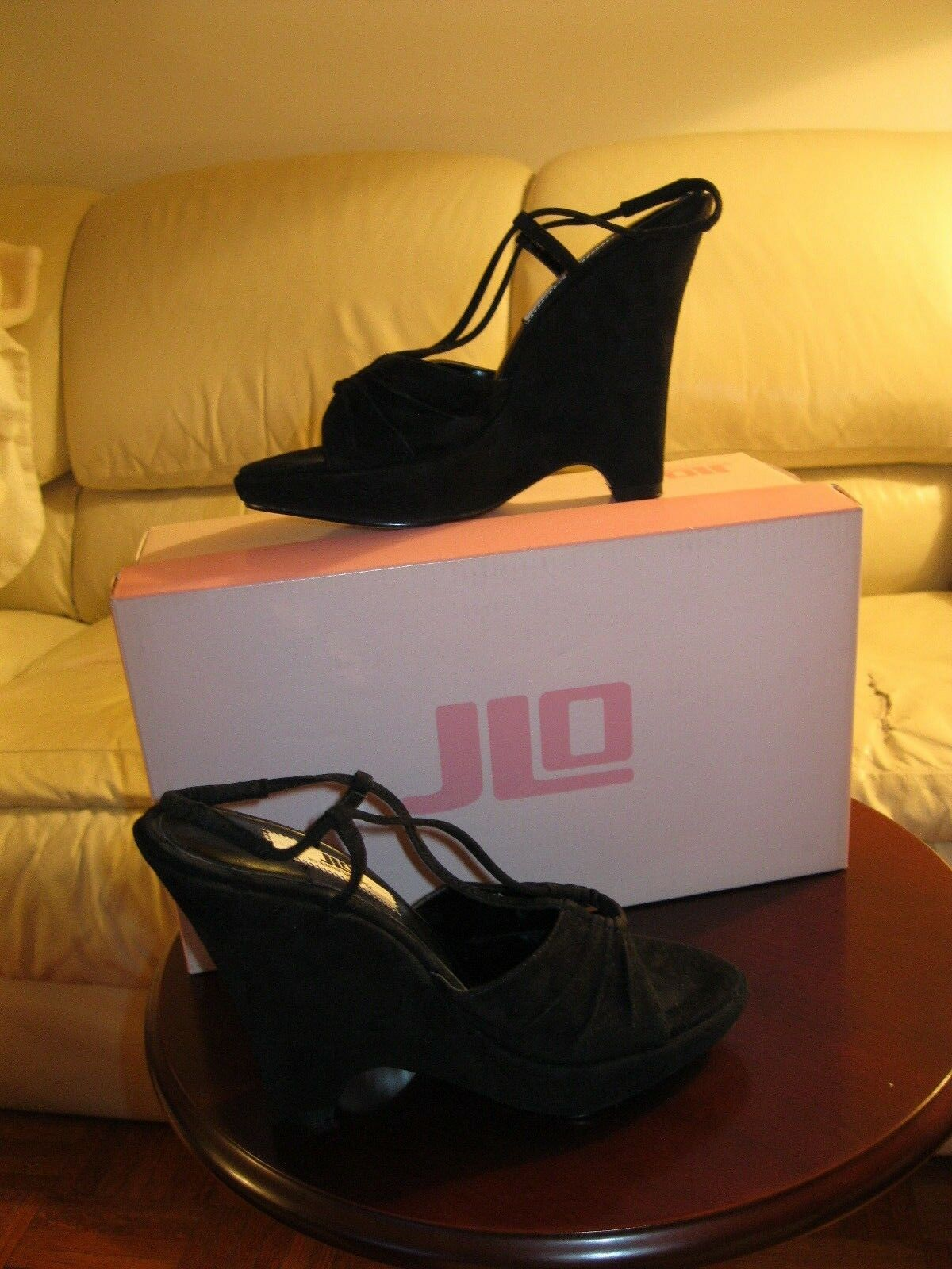 JLO by Jennifer Lopez Black Suede Wedge