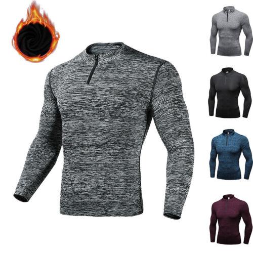 Men/'s Thermal Wintergear Compression Baselayer Zipper Mock Long Sleeve T Shirts