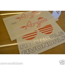 AVONDALE Argos Caravan Stickers Decals Graphics - SET OF