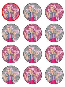 Jojo Siwa Jo Jo Bow Pretty Pink Silver Edible Cupcake