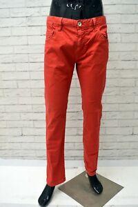 Jeans-ELLESSE-Uomo-Taglia-Size-46-Pantalone-Pants-Man-Cotone-Regular-Fit-Rosso