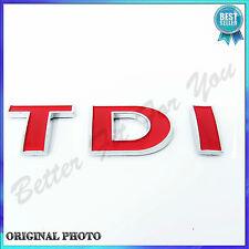 VW TDI Schriftzug Heck Golf 4 Bora Passat Sharan T5 Emblem Badge hinten TOP NEU