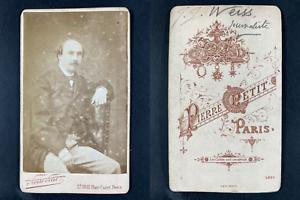 Pierre Petit, Paris, Jean-Jacques Weiss, homme de lettres Vintage cdv albumen pr