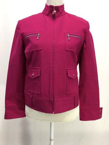 Cotton Size Women's Pink Small John St Up Sportjakke Stretch Zip 8XUfq