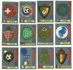 1994-panini-USA-coupe-du-monde-lot-12-BADGE-STICKERS