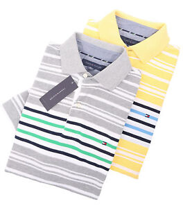 Tommy-Hilfiger-Men-039-s-Short-Sleeve-Classic-Fit-Striped-Polo-Shirt-0-Free-Ship