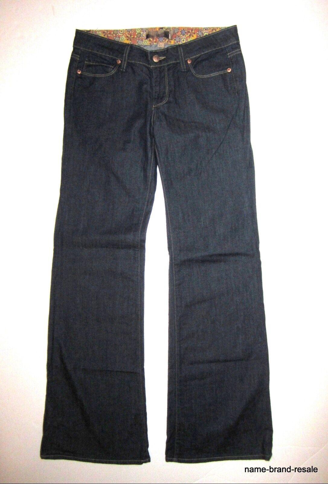 PAIGE PREMIUM Denim JEANS Womens 27 x 32 BENTLEY Dark Wash FLARE Leg DESIGNER