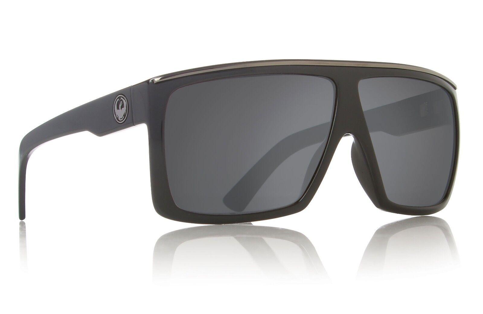 Authentic Dragon Alliance Fame Sunglasses Jet Black Frame Grey Lens ... 8592c4deff