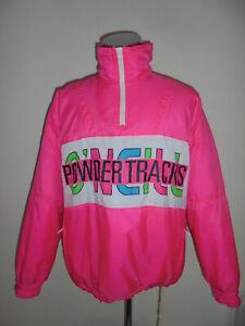rare-80s-vintage-O-NEILL-Skijacke-Snowboard-Jacke-glanz-neon-80er-ski-jacket-L