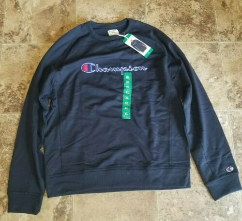 Mens Champion Sweatshirt Crew Neck Navy X-Large XL