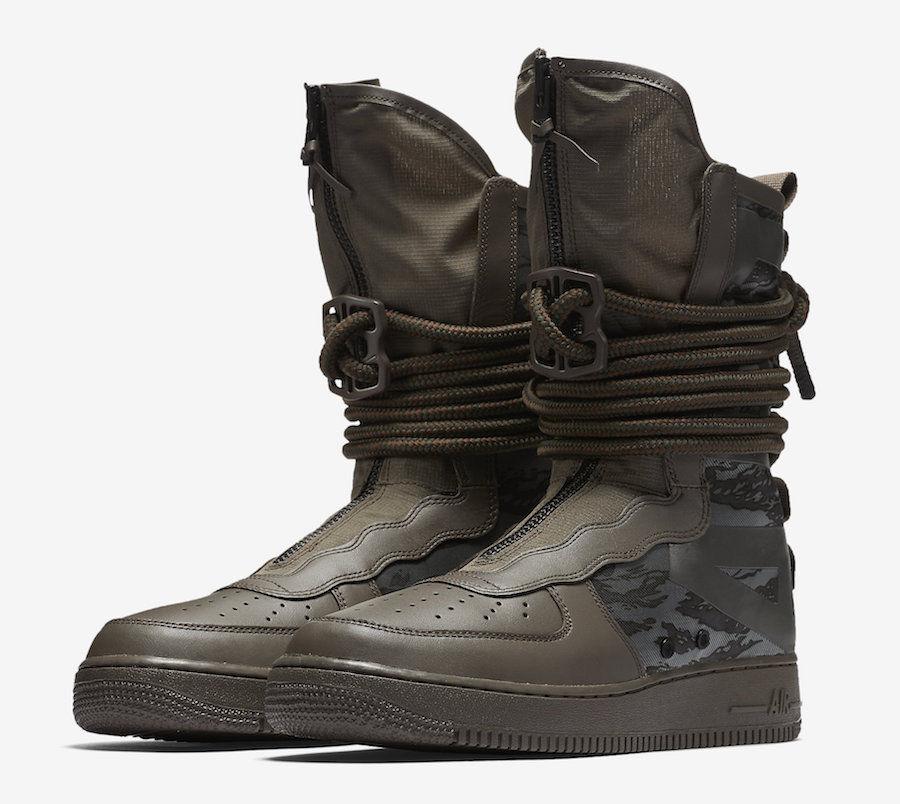 Nike SF AF1 Hi Ridgerock AA1128-203 Men Special Field SFAF1 Sequoia Black Price reduction  Wild casual shoes