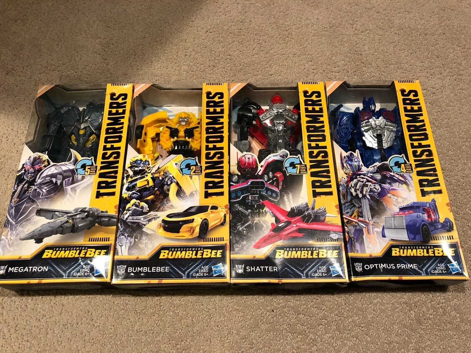 Transformers Bumblebee Movie Lot of 4. MISB Rare Variant Packaging
