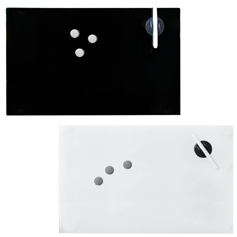 Glas Magenttafel Schreibtafel Wandtafel Weißboard 2 Farben inkl. Zubehör V2Aox