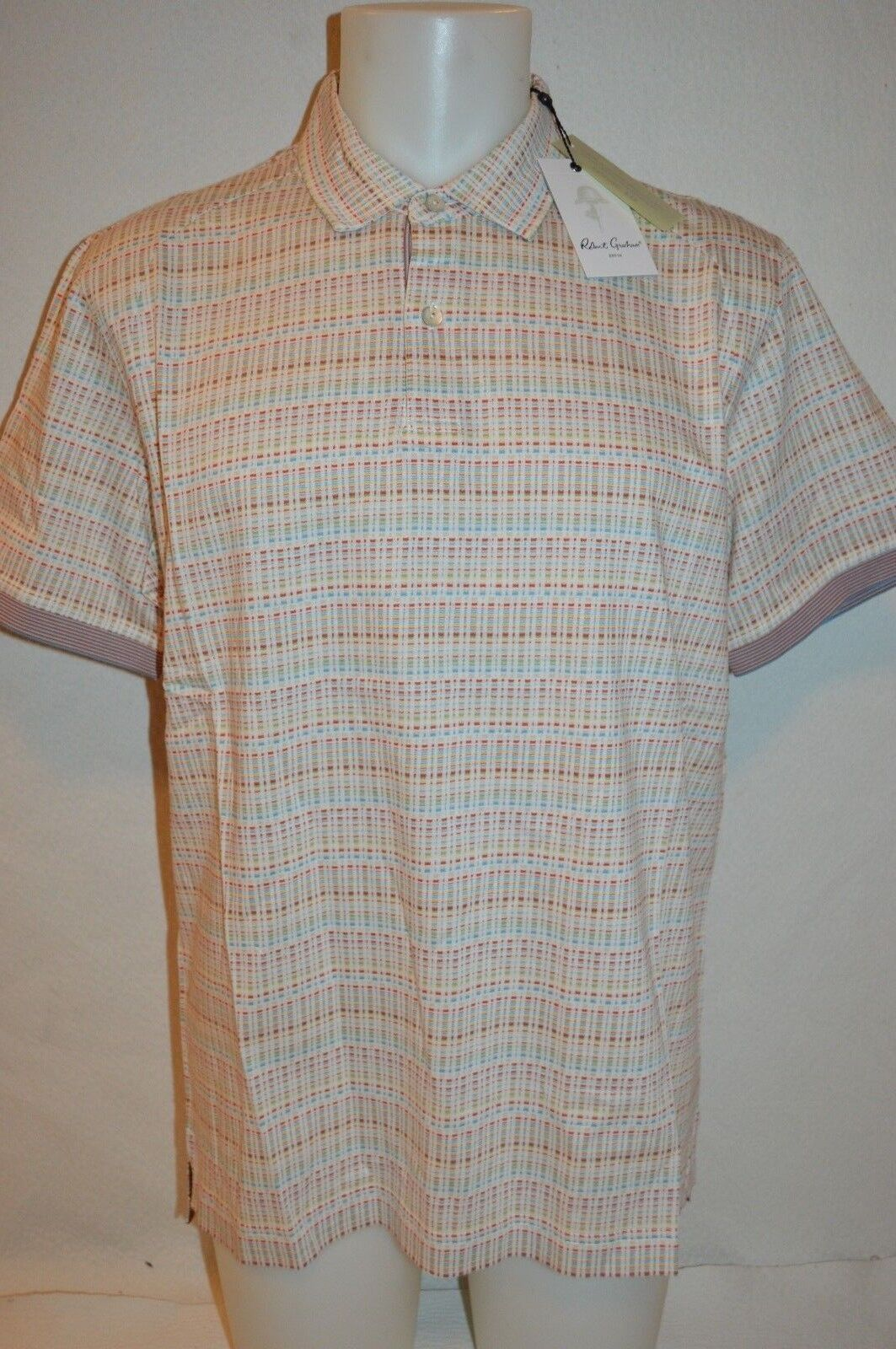 ROBERT GRAHAM Man's ANGOLA Classic Fit Polo NEW Size Large  Retail