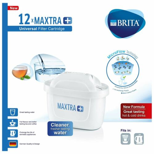 plus carafe d/'eau filtrante cartouches de rechange Recharges UK Pack 12 X Brita Maxtra