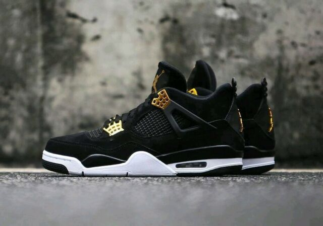 newest d71ae 03acf 2017 Nike Air Jordan 4 IV Retro Royalty Black Gold Size 11. 308497-032 1 2 3