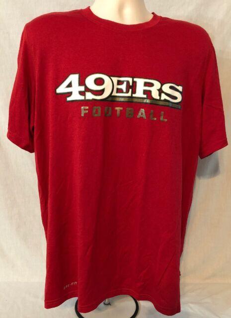 San Francisco 49ers Nfl Nike Dri Fit Tee T Shirt Mens Size Large For Sale Online Ebay